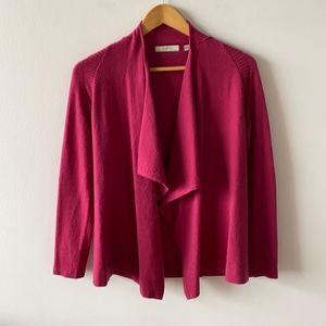 Neiman Marcus cashmere open cardigan pink